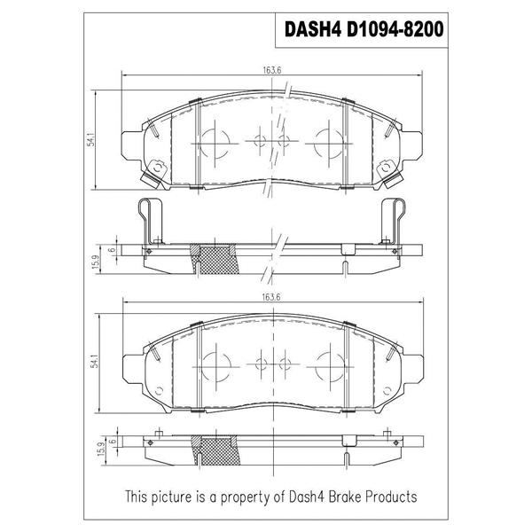 Dash 4 Brake CD1094 Disc Brake Pad - Ceramic Brake Pads, Front