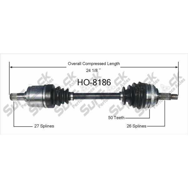 CV Axle Shaft-New Front Left SurTrack HO-8186 fits 02-06