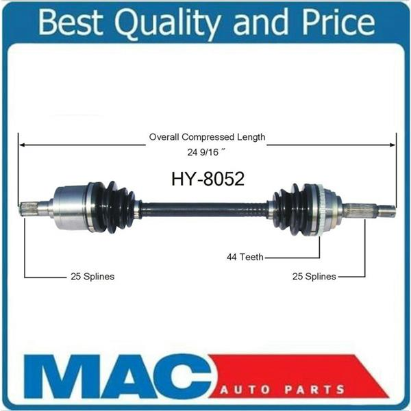 HY-8052 CV Axle Shaft - New, Front Left D/S  00-05 Accent W Manual transmission