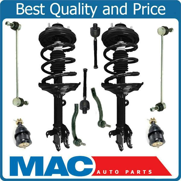 Coil Spring Strut Mount Ball Joints Tie Rods Sway Bar Links for 03-05 Acura MDX