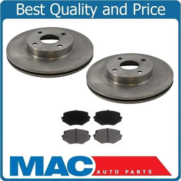 94 to 2000 Miata (2) Front 31159 Disc Brake Rotors & Pads MD635