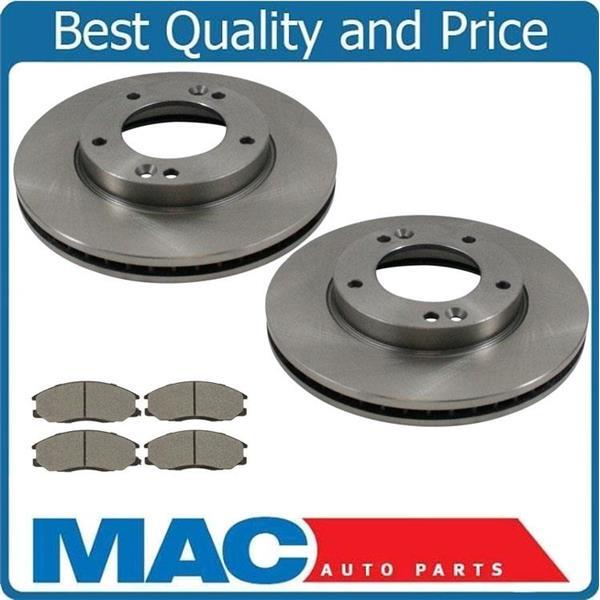 Front Disc Brake Rotors & Ceramic Brake Pads for KIA Sorento 2007-2009