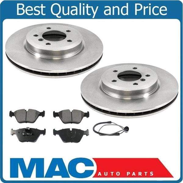 For 2001-2005 BMW 330i 330Xi BMW (2) Front Brake Rotors & Pads Sensor