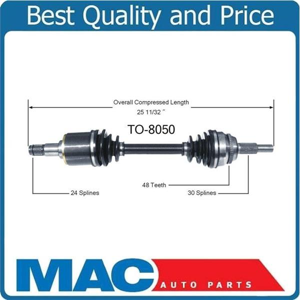 100% New CV Axle Shaft Front Left 04-06 RX330 07-09 RX350 Front Wheel Drive Only