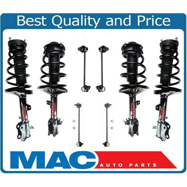 Front & Rear Struts Assembly & (4) Sway Bar Links For 99-03 Lexus RX300 AWD 4x4