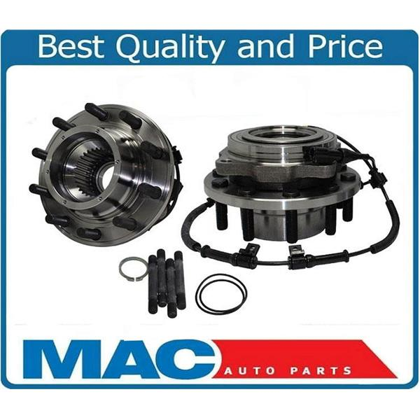 for 05-10 F450 F550 4x4 (2) Dual Rear Wheel Front Wheel and Bearing Hub Assembly