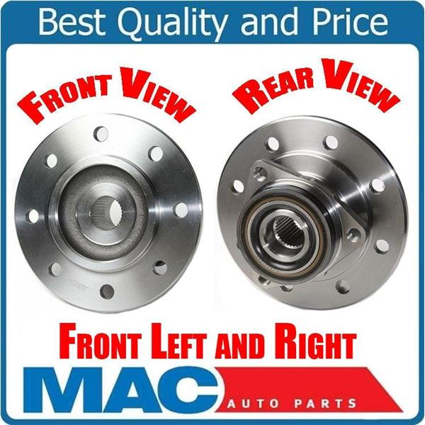 (2) New WHEEL BEARING AND HUB Fits For 94-99 Ram 2500 4x4 Rear ABS 3Bolt Flange