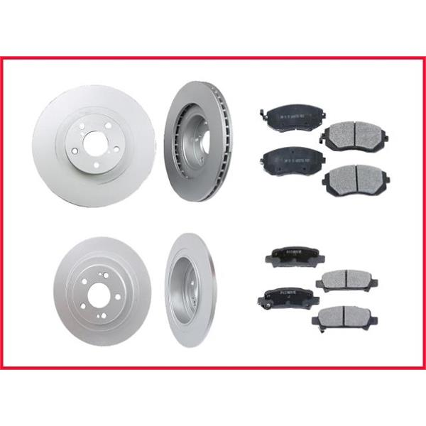 Front & Rear Rotors & Pads for Forester 2.5L 05-08 34203 CD929 31043 MD1004