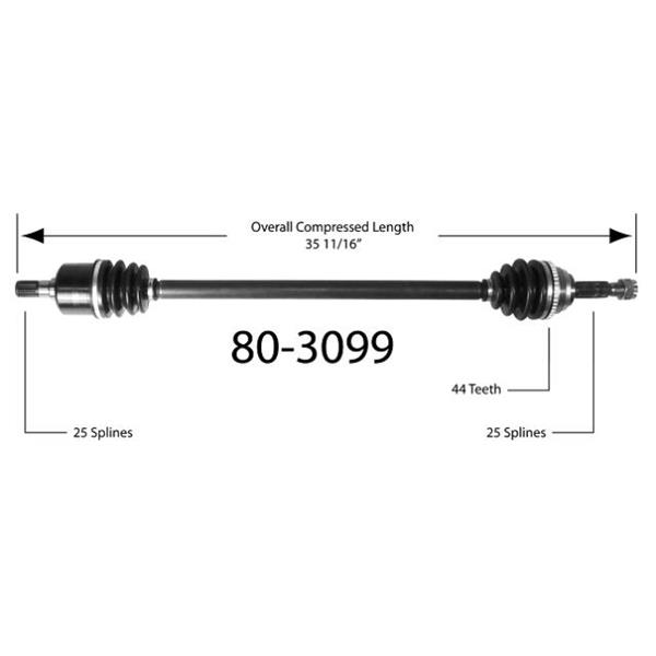 1986-1989 Hyundai Excel  D/S New CV Drive Axle Shaft