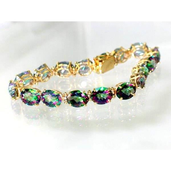 Mystic Fire Topaz Gold Bracelet
