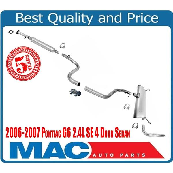 06 07 Fits For G6 Se 4dr 2 4l Resonator Ler Exhaust Pipe System Walker Brand Mac Auto Parts