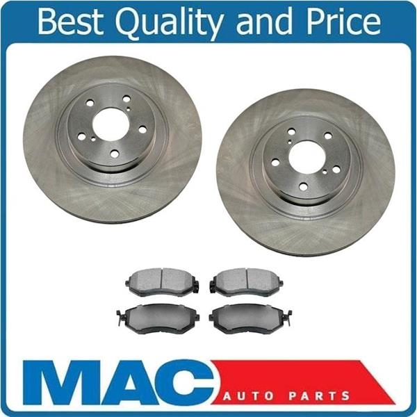 Ceramic Pads For Legacy Sedan Wagon Outback Front And Rear Brake Rotors