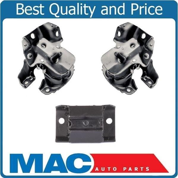 for 07-13 Chevy Silverado 4.3L V6 REAR  Wheel Drive 3pc Engine Motor Mounts