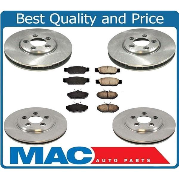 Front And Rear Disc Brake Rotors Amp Cearamic Brake Pads For