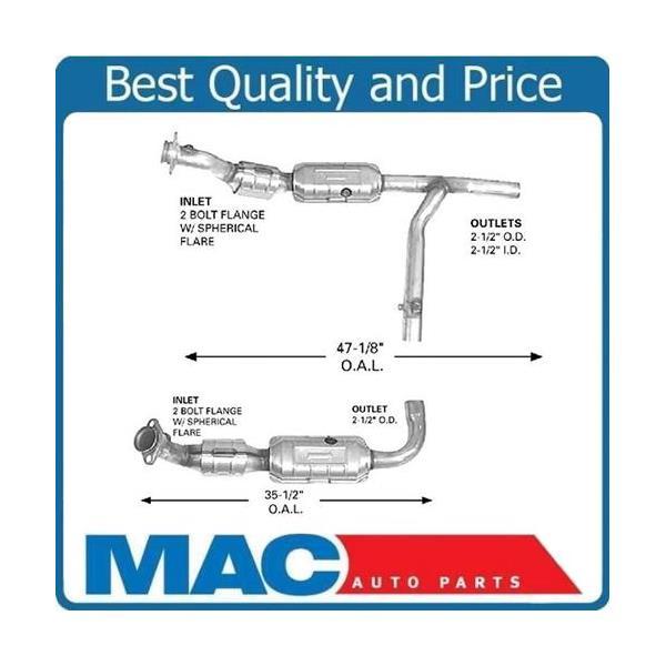 for 01-03 f150 rear wheel drive l&r 4 6l (2) catalytic converter