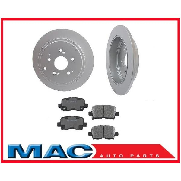 Acura TL L TL Rear Brake Rotors Ceramic Pads - 2003 acura tl rotors