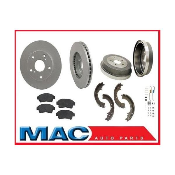 1999 Toyota Camry Brake Pads: 1992-1999 Camry Front Brake Rotors Pads Rear Drums Shoes